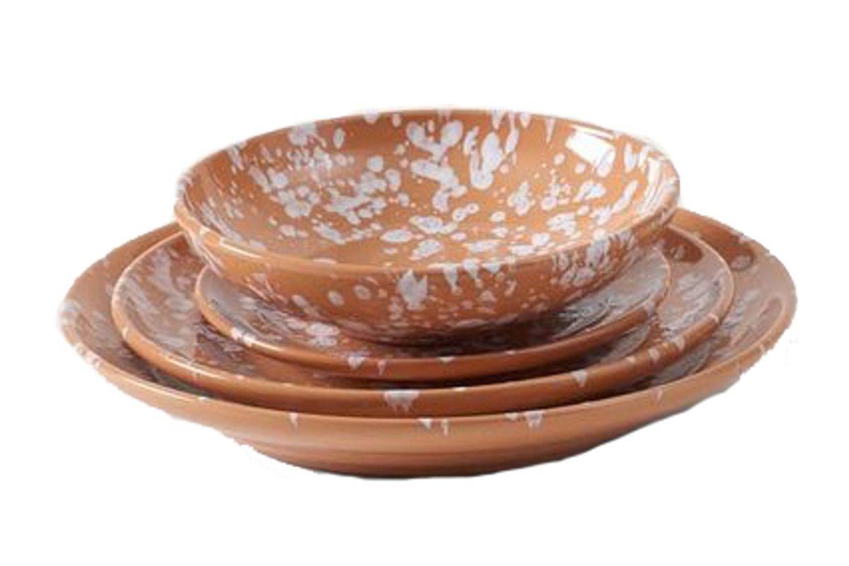 march splatterware dinnerware