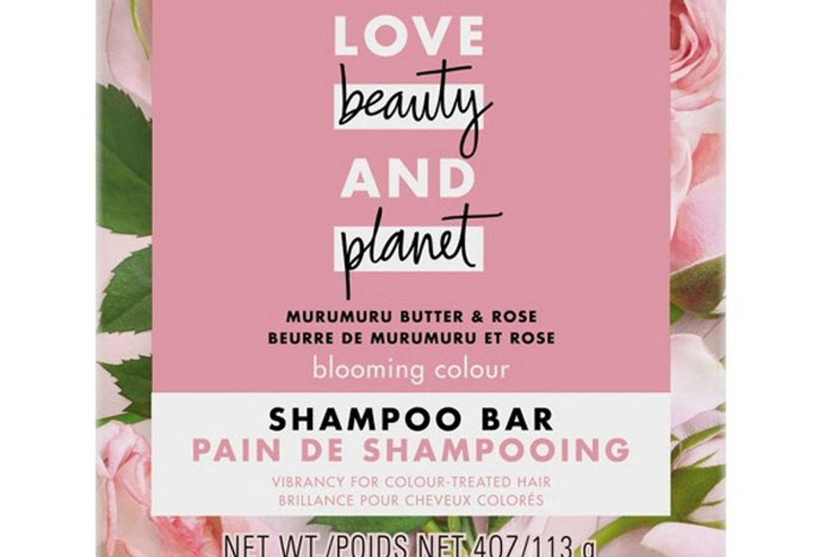love beauty planet murumuru butter and rose shampoo bar