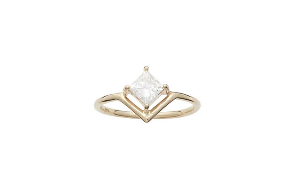 wwakee nestled princess cut diamond ring