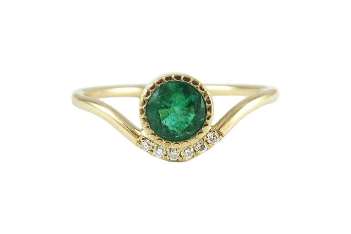 jennie kwon emerald wave ring