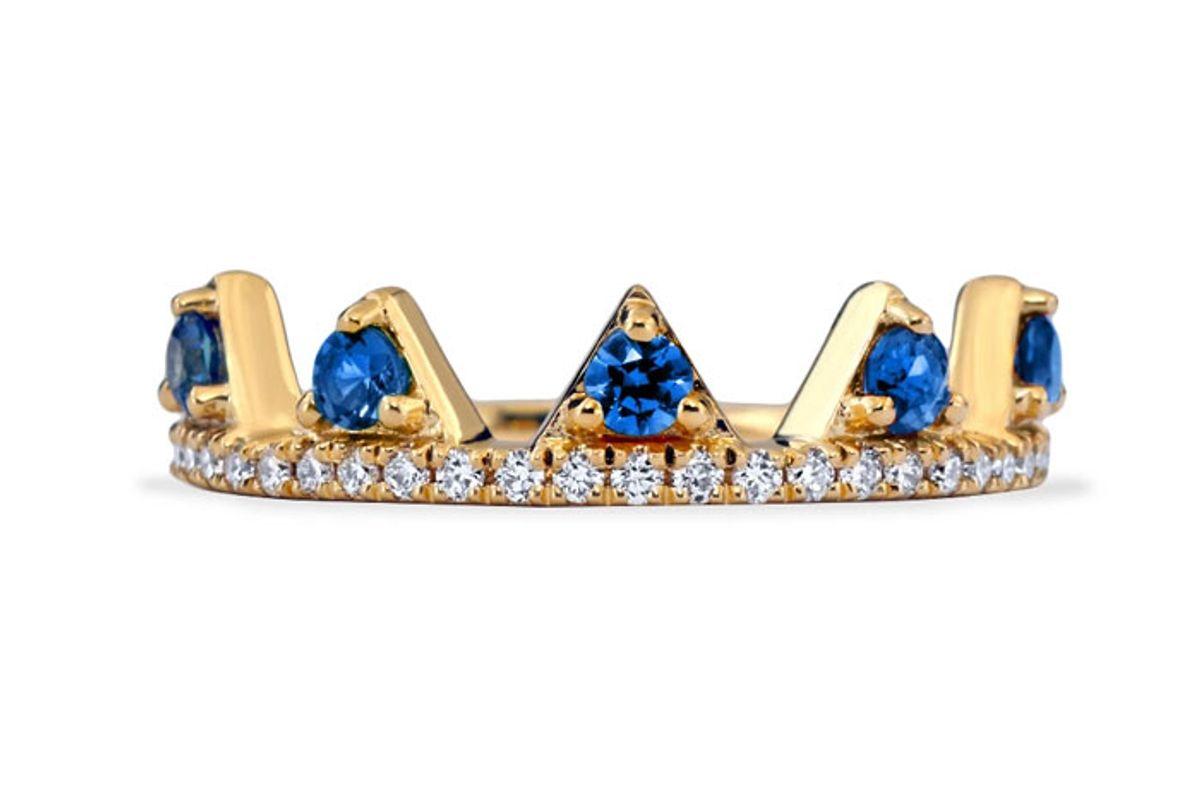 khai khai blue sapphire jaws ring