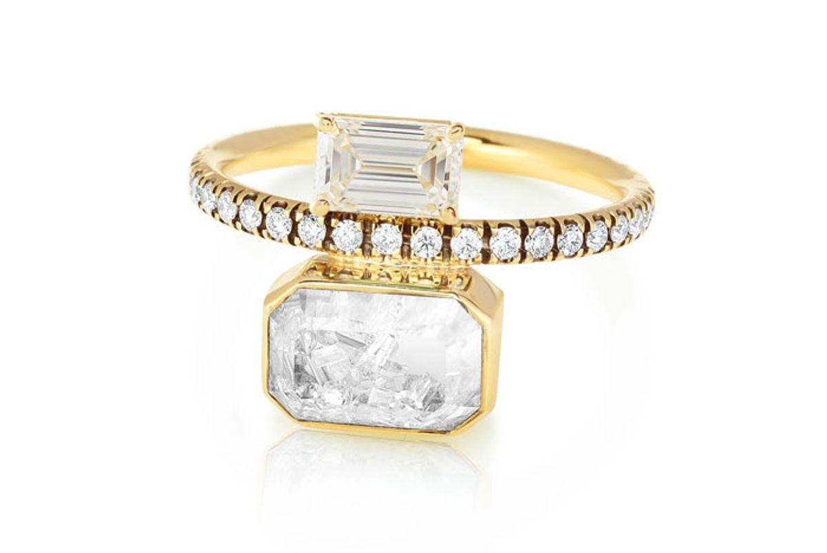 moritz glik emerald cut diamond ring