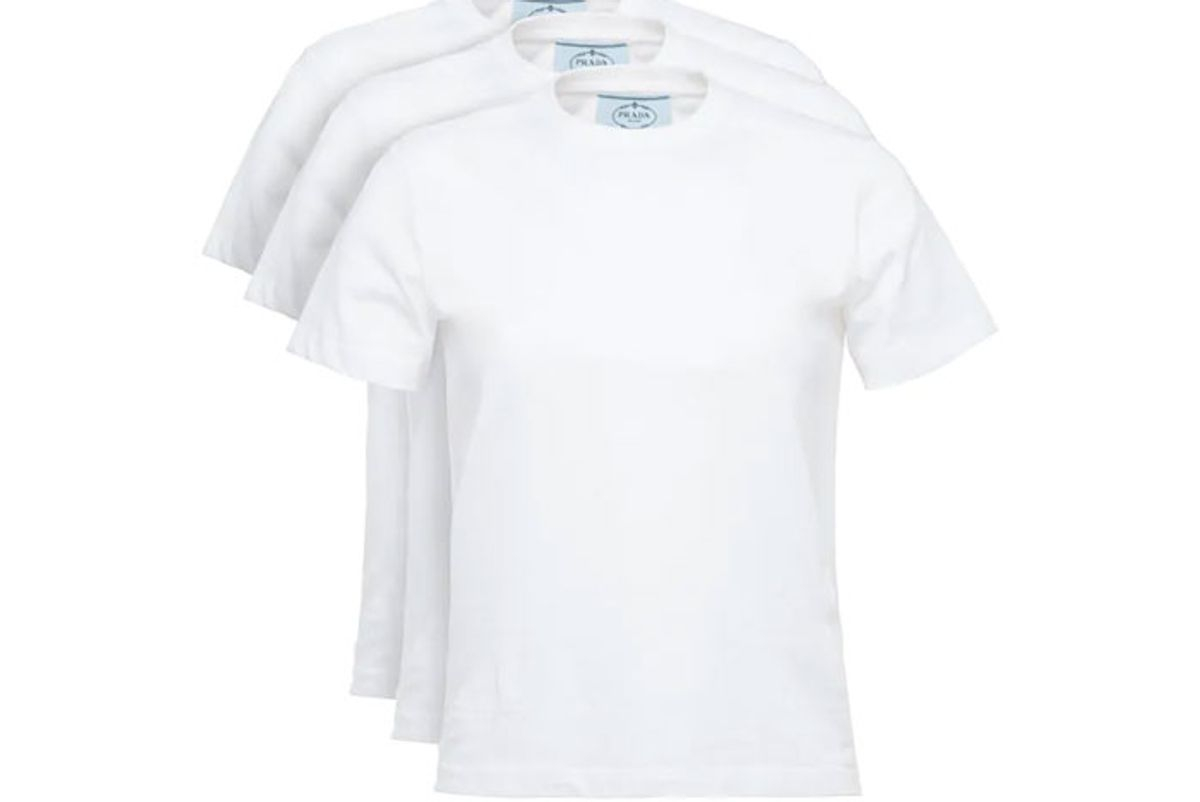 prada cotton jersey t-shirt