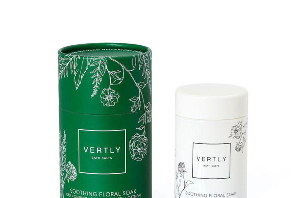 vertly soothing floral soak bath salts