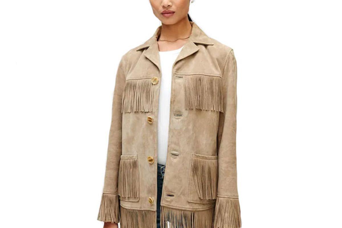 7 for all mankind fringe suede jacket