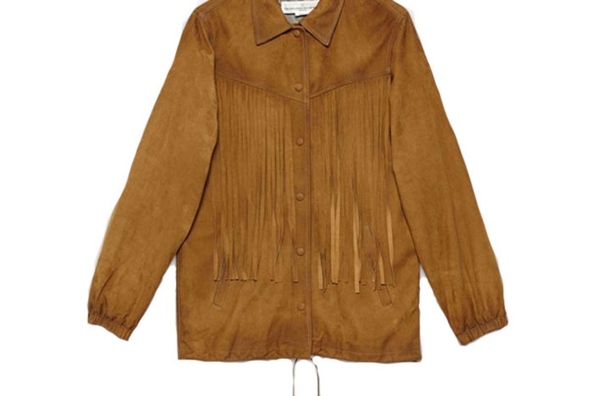 golden goose ayumi jacket suede leather with fringe
