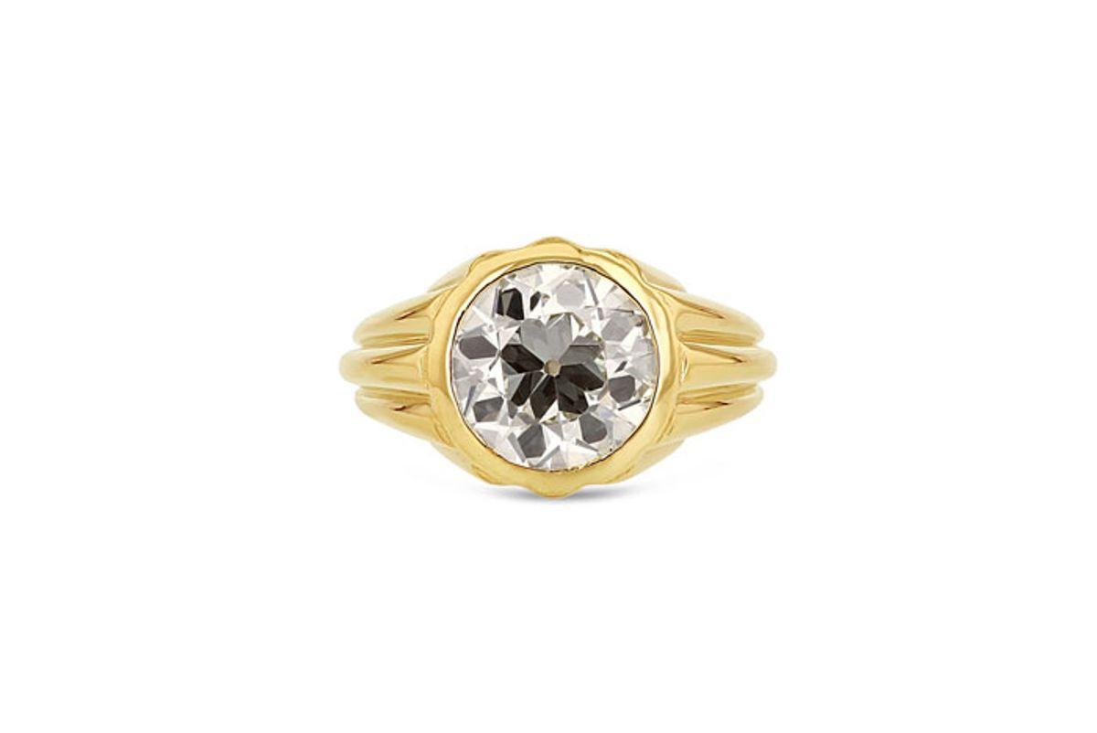 grace lee diamond column ring