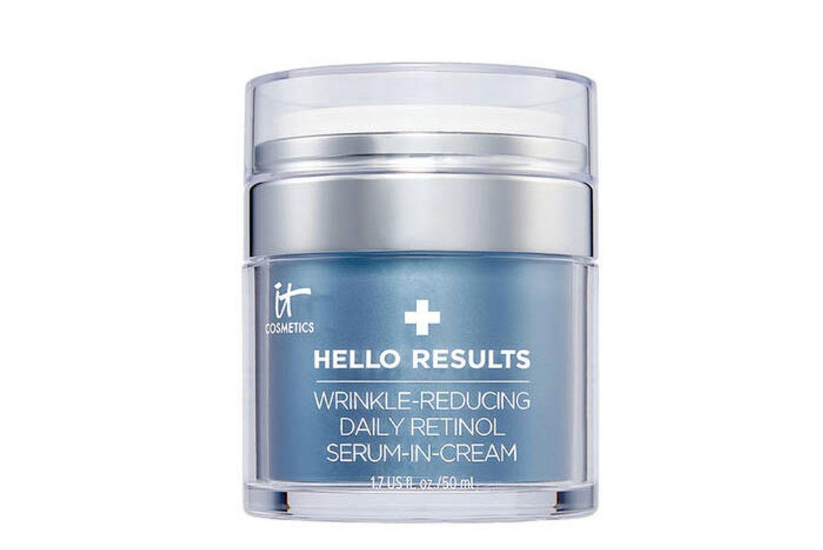 it cosmetics hello results wrinkle reducing daily retinol serum in cream
