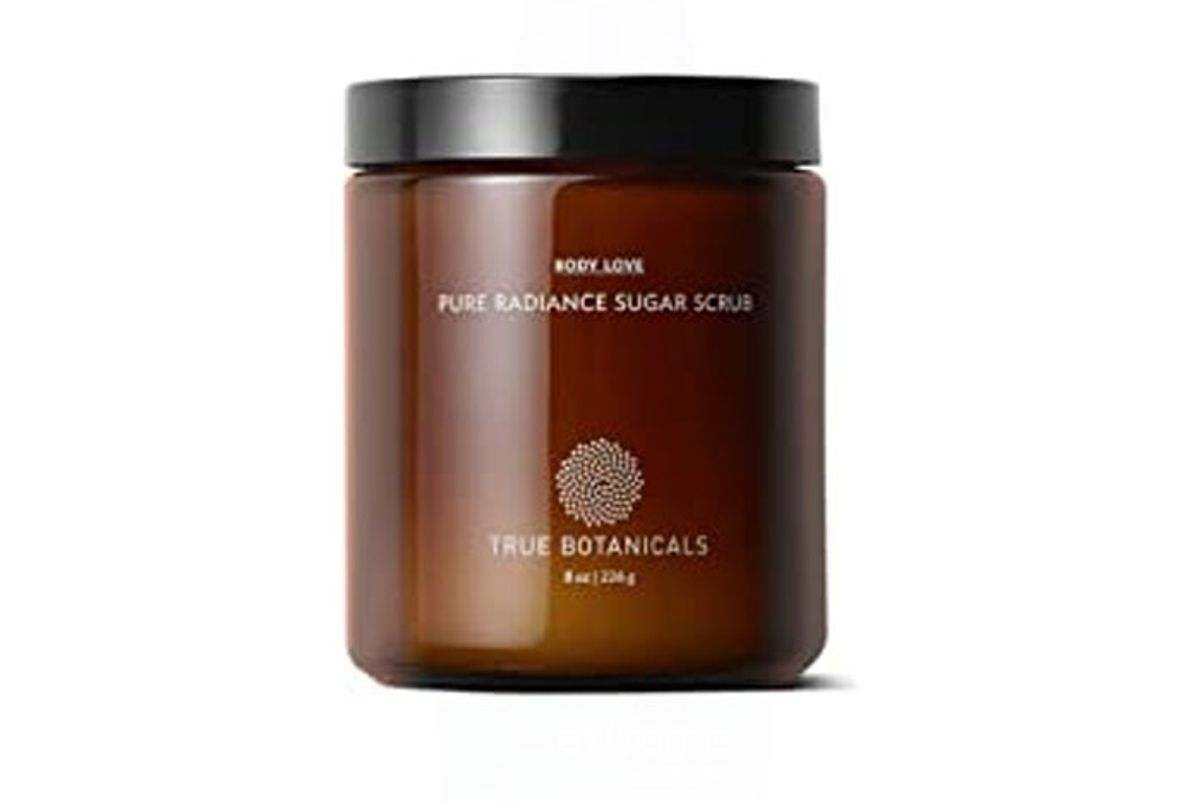 true botanicals pure radiance sugar exfoliating body scrub