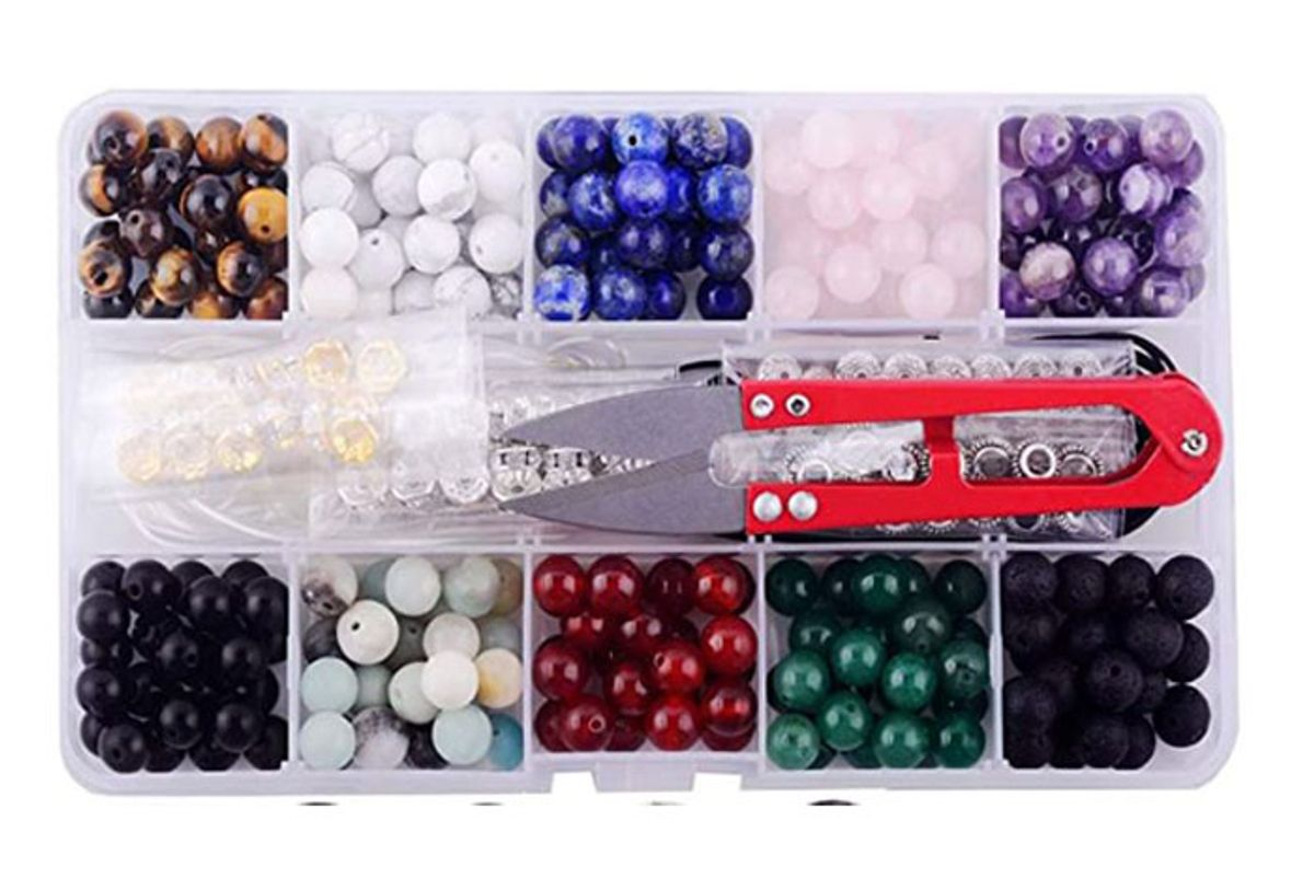 assorted gemstone beads