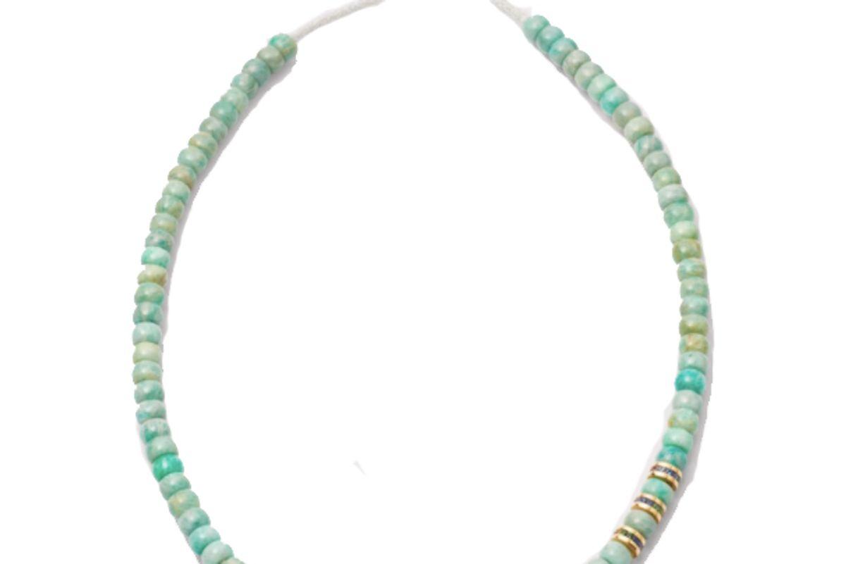 carolina bucci forte beads necklace with precious beads