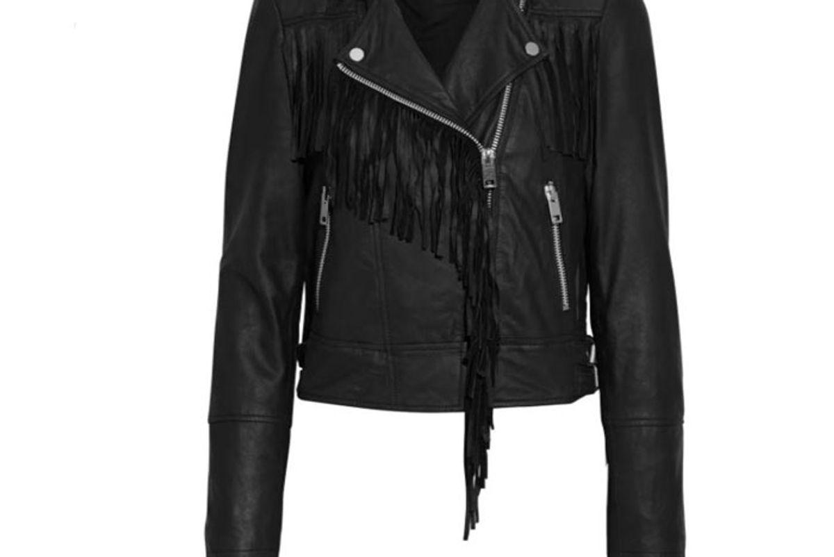 walter baker alexis fringed washed leather biker jacket