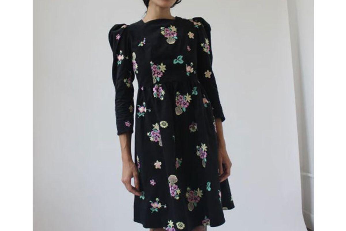 batsheva square neck midi dress