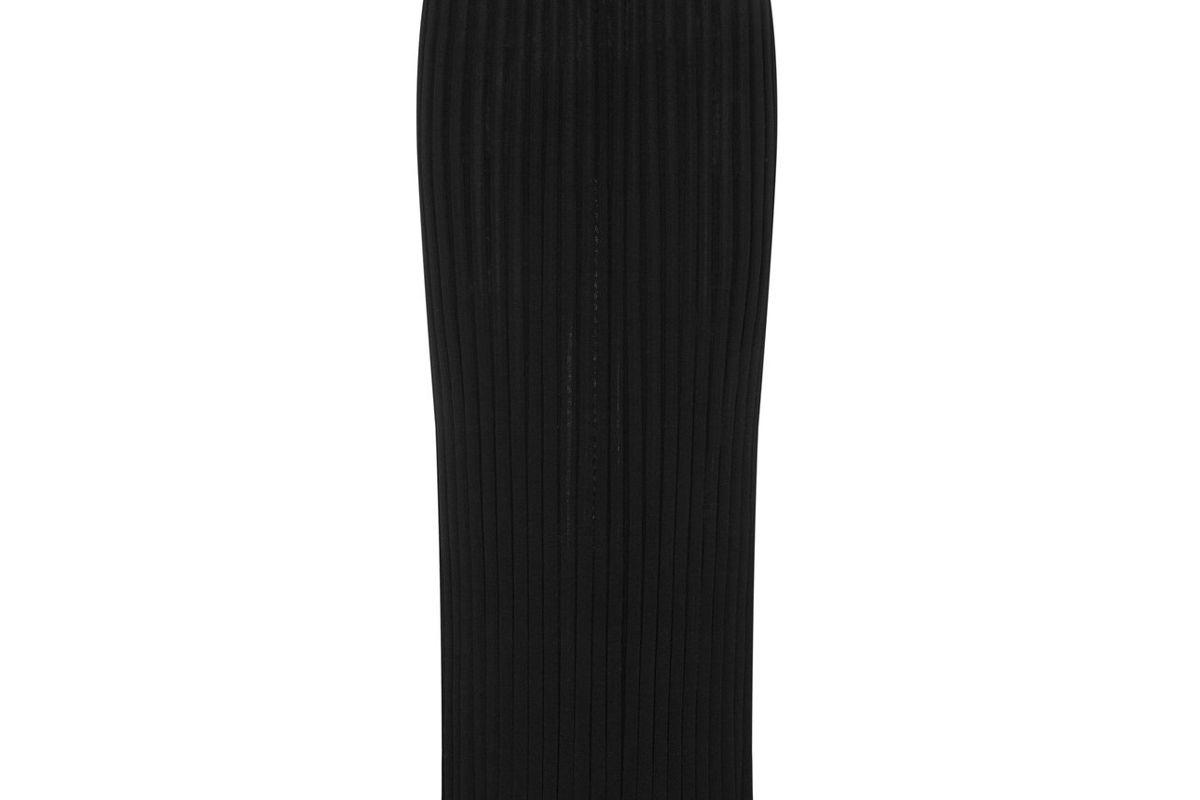 christopher esber drawstring detailed ribbed knit maxi skirt