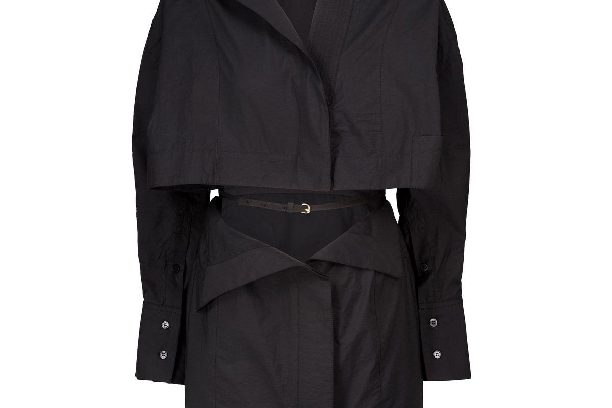 jacquemus la robe terraio cotton blend minidress