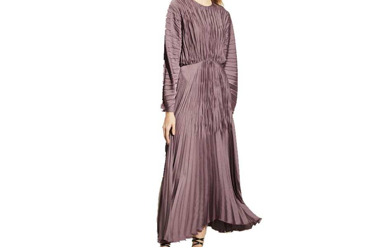 vince pleated dolman sleeve dress