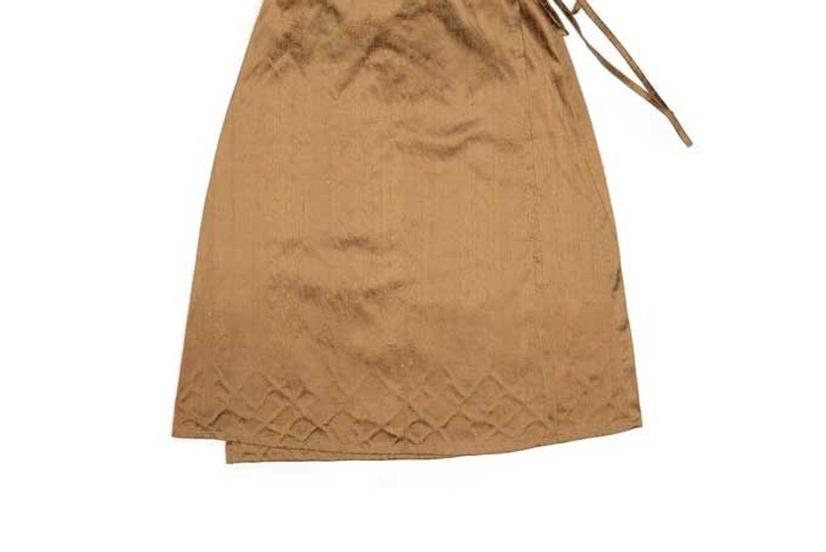 house of aama silk wrap skirt