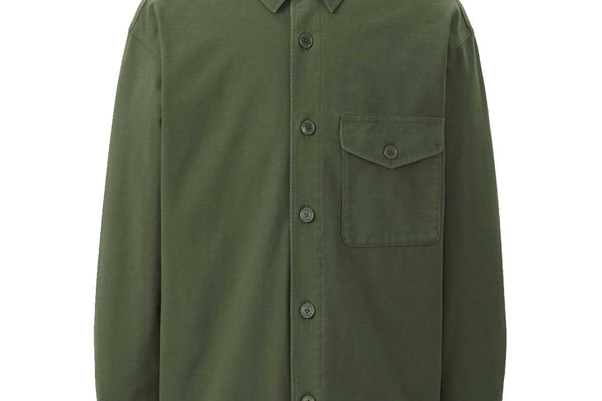 uniqlo jersey over shirt jacket