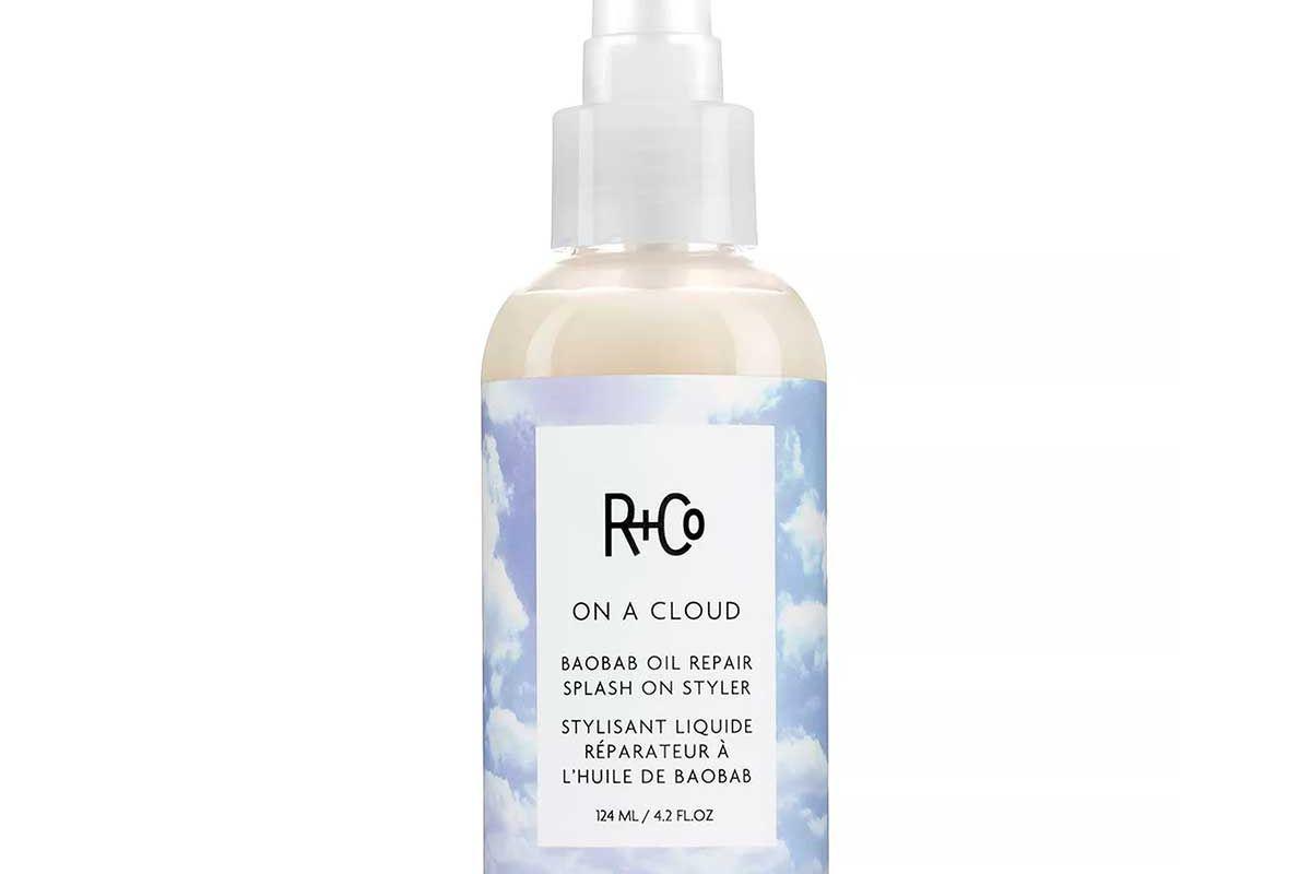 r and co on a cloud baobab oil repair splash on styler