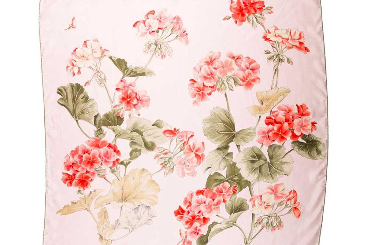 tiffany and co silk floral print shawl