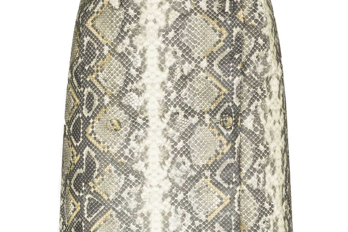 rotate london snake print mini skirt