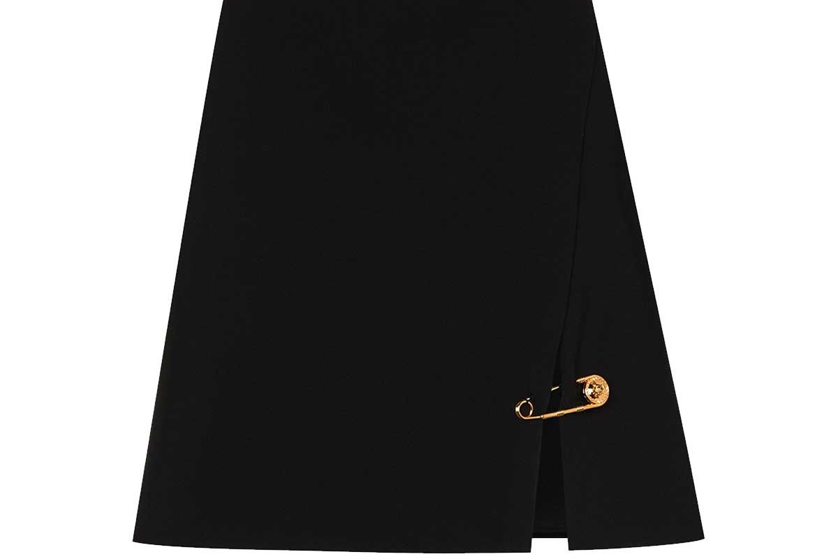 versace safety pin a line mini skirt