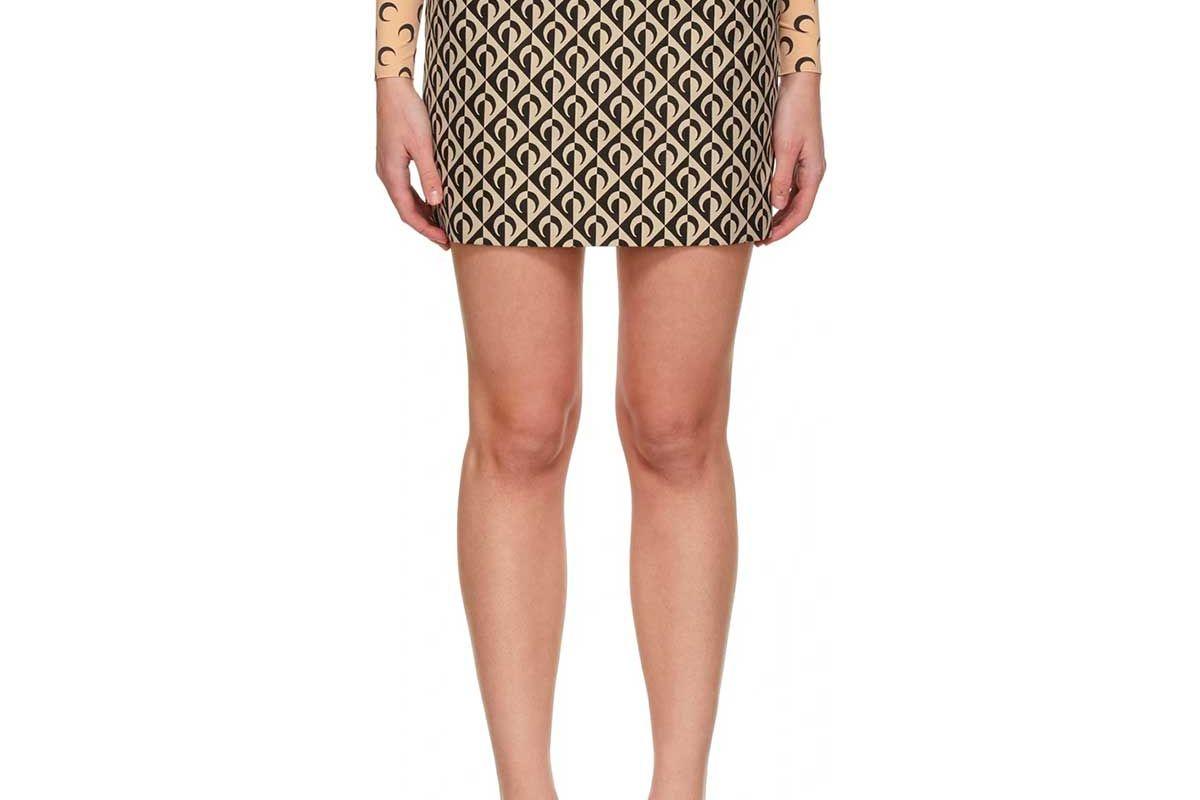 marine serre moon lozenge tailored mini skirt