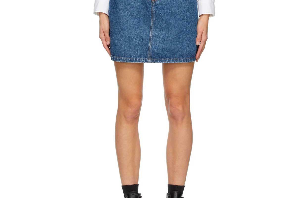 apc denim standard skirt