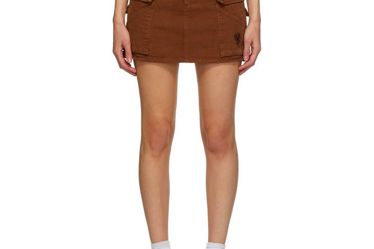 marc jacobs twill pocket skirt