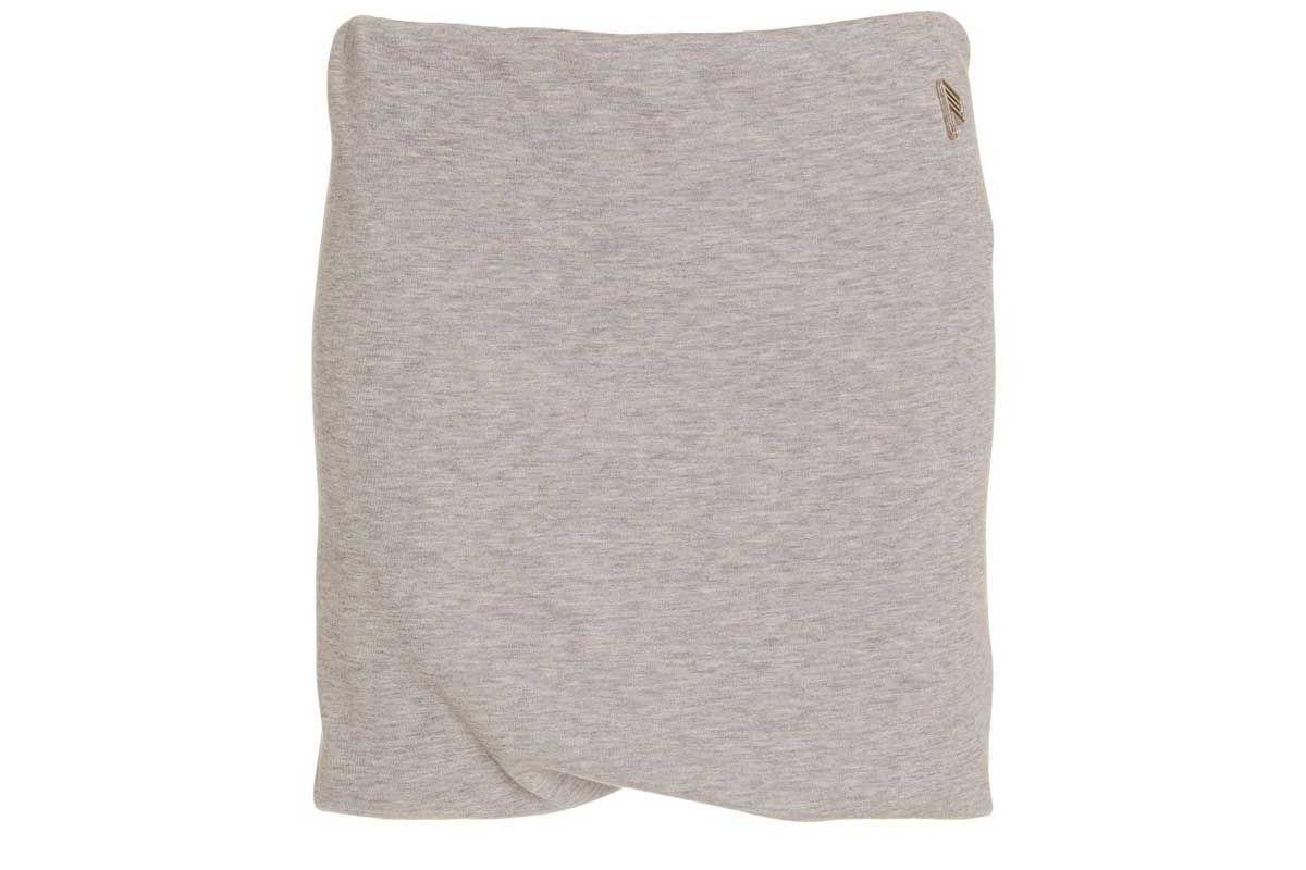 the attico ezra draped cotton blend jersey mini skirt