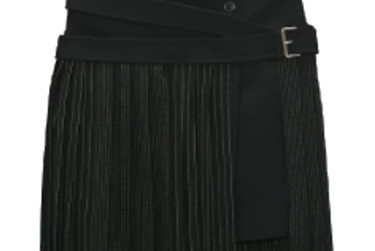 zara combination belted skirt