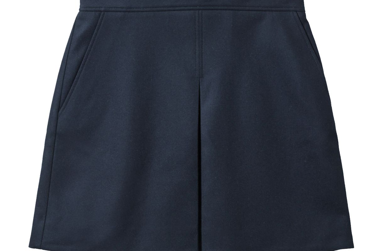 cos pleated a line wool cashmere mini skirt
