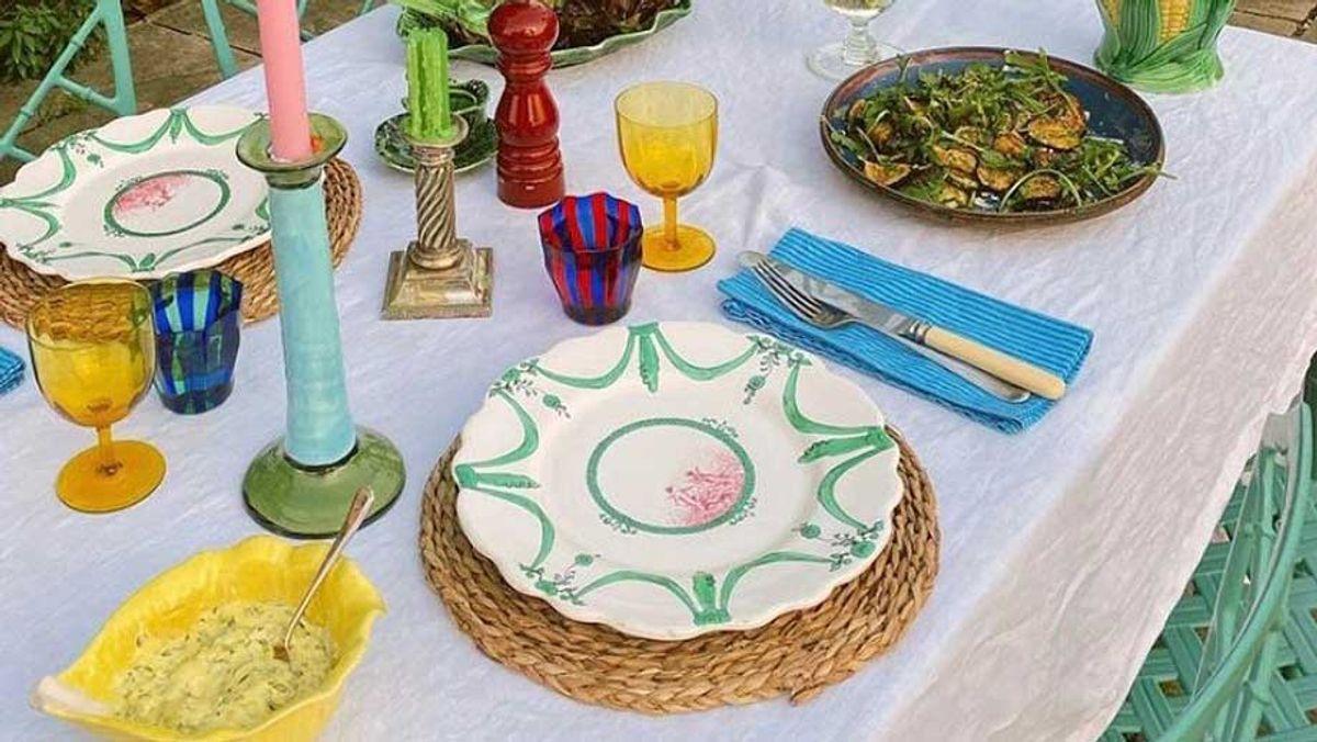 eclectic tablescape