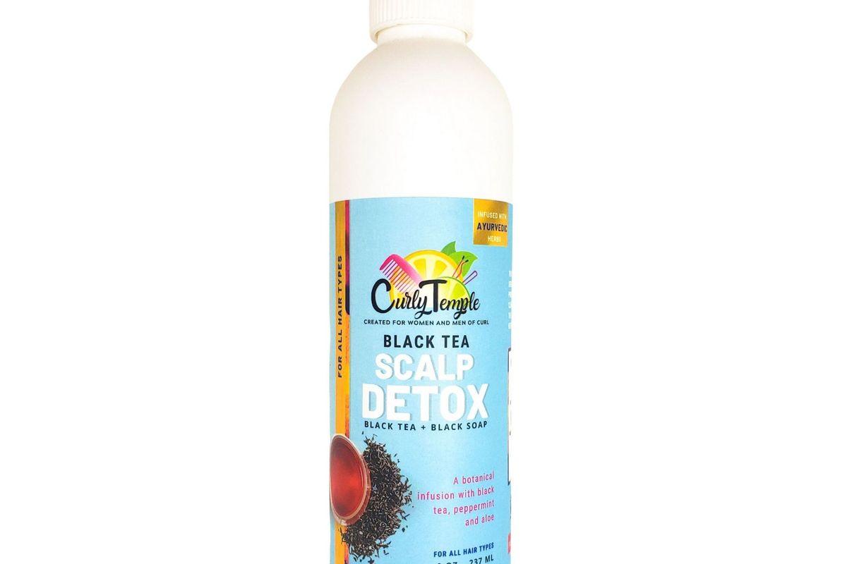 curly temple black tea scalp detox