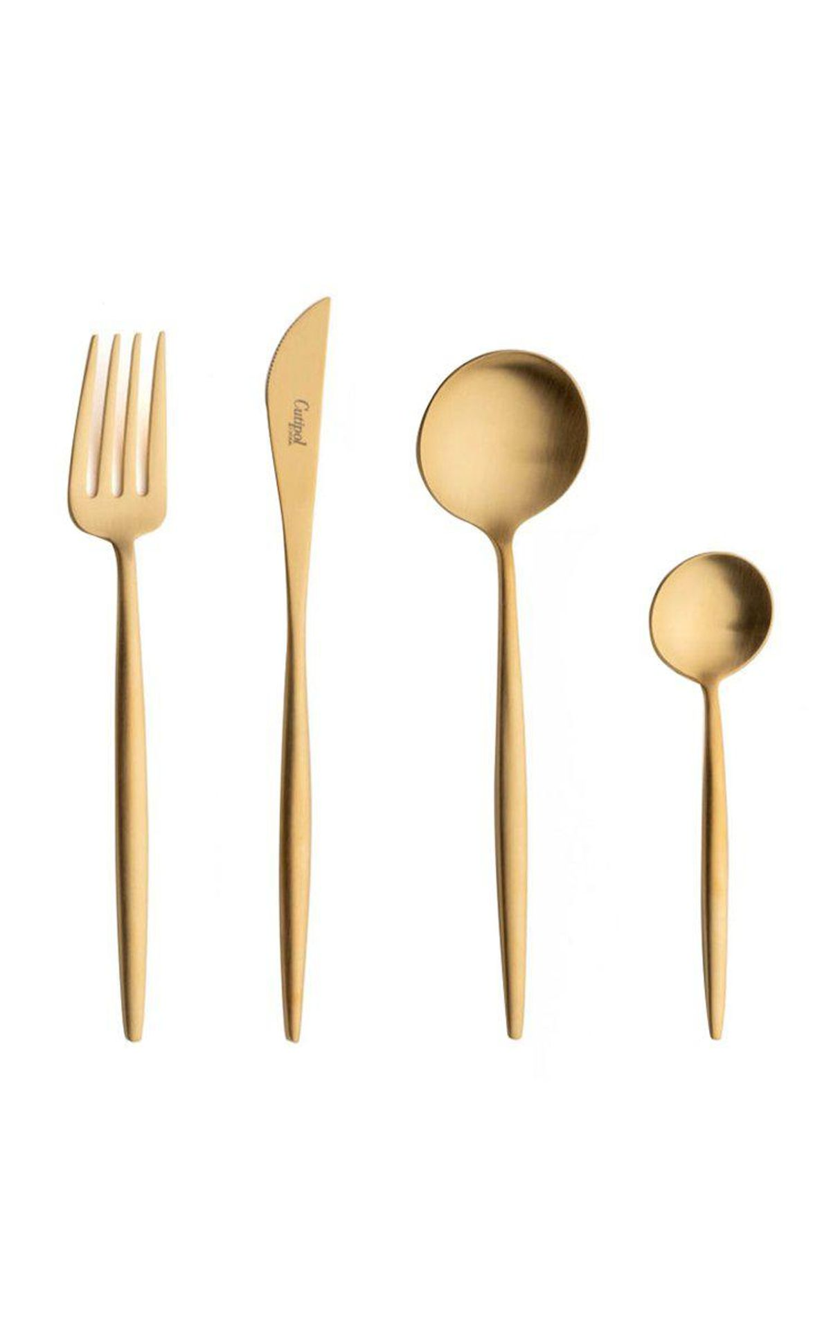 cutipol moon stainless steel five piece silverware set