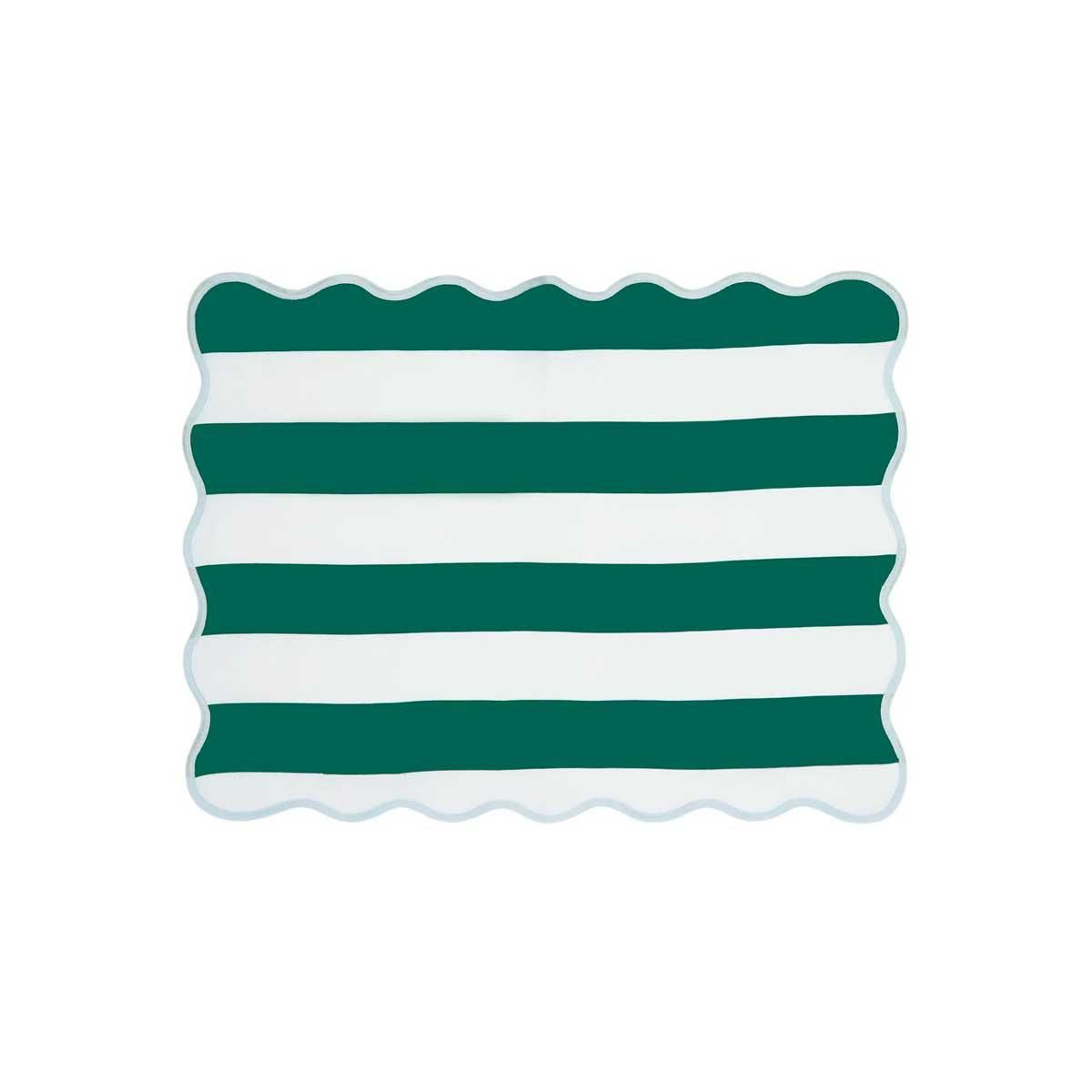 angela wickstead set of four striped linen placemats