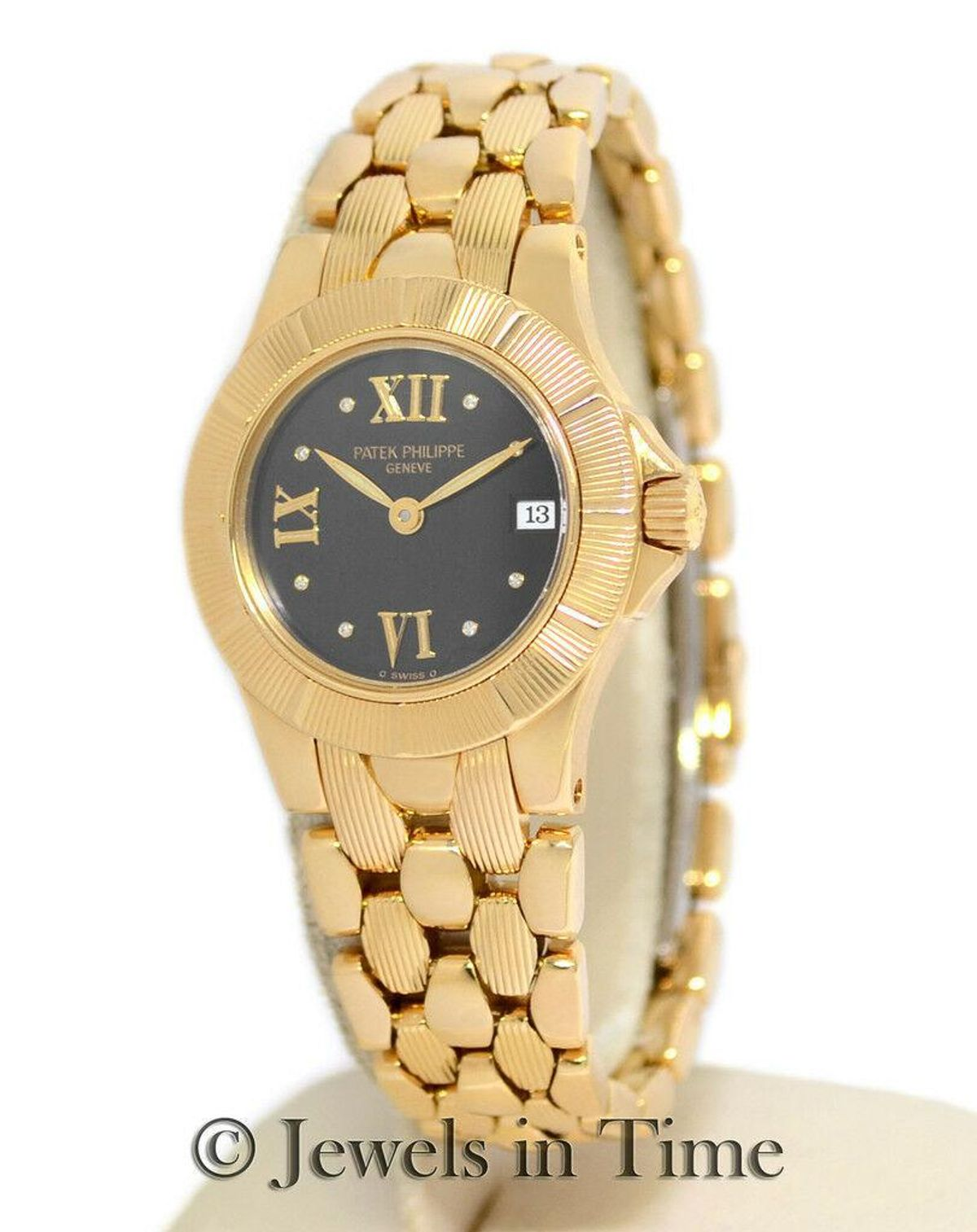 Neptune 4881 18K Yellow Gold Diamond Quartz Ladies Watch 4881J