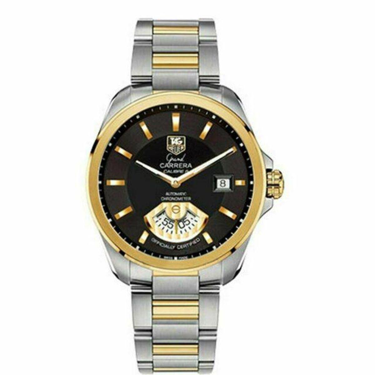 tag heuer black grand carrera stella black dial automatic mens watch
