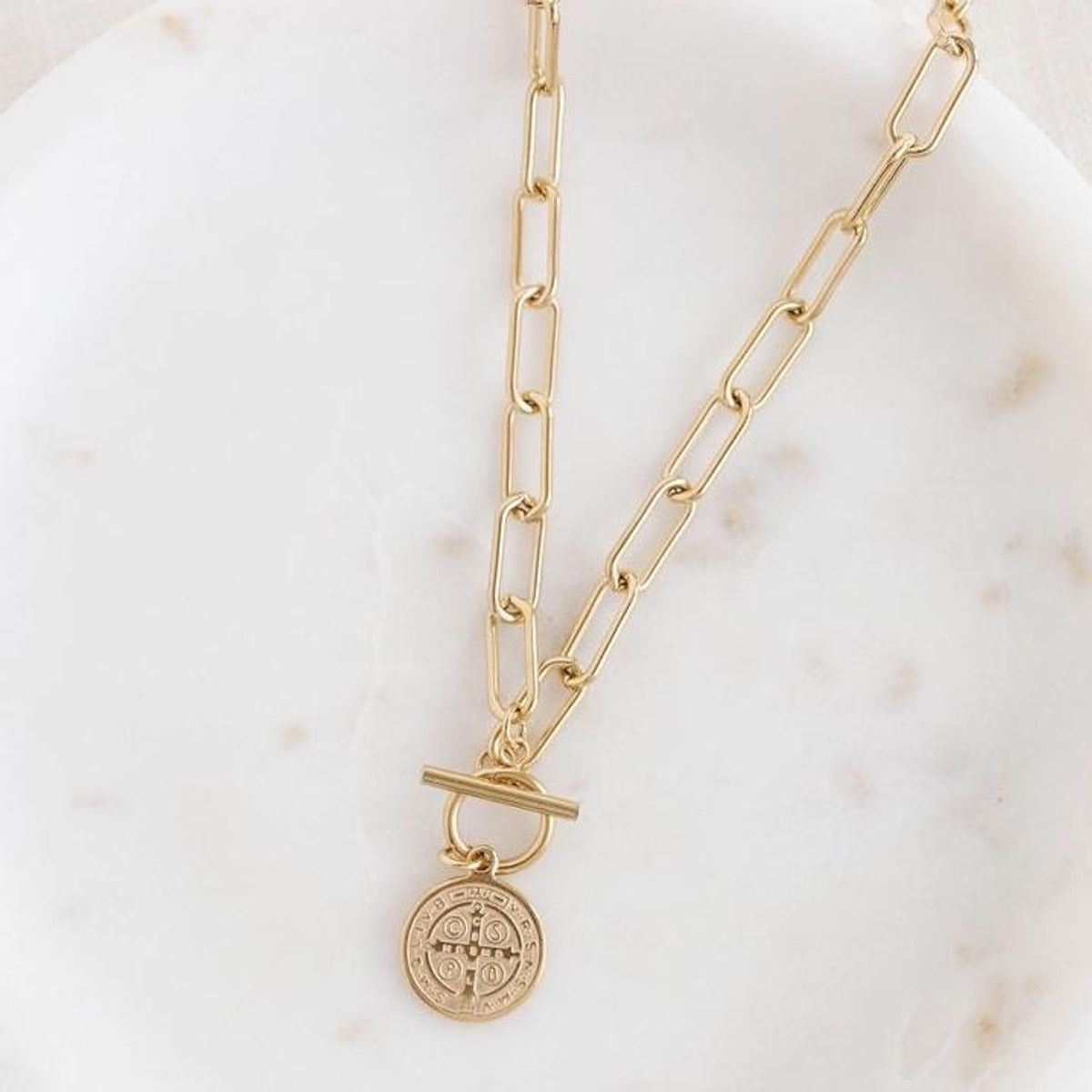 stella and haas saint pendant necklace