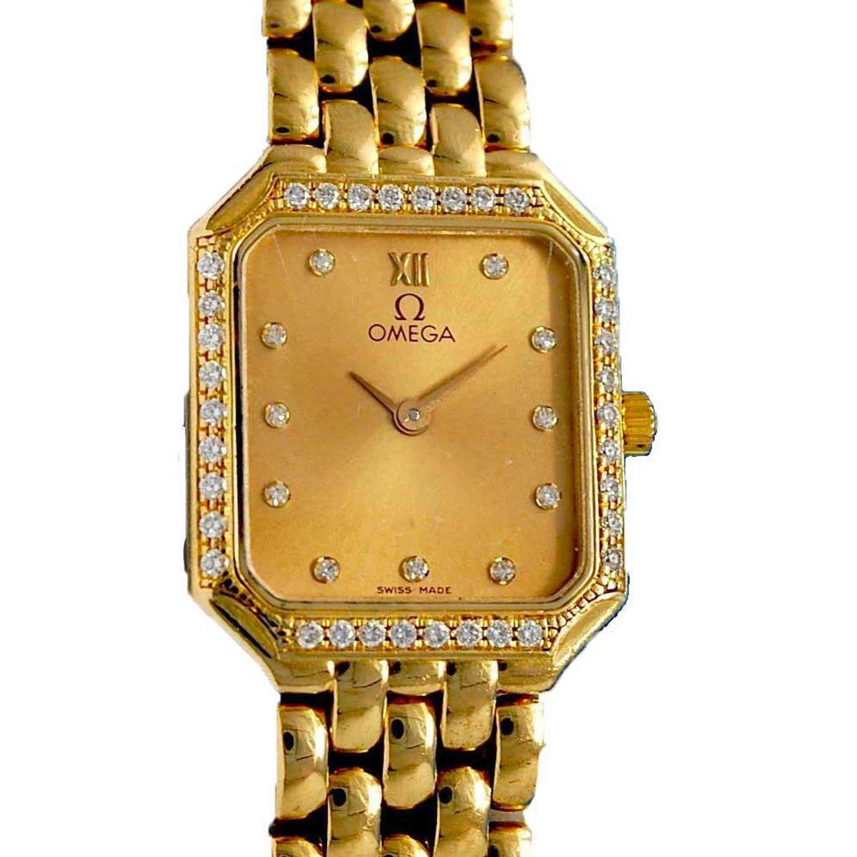 omega deville solid 18k gold watch
