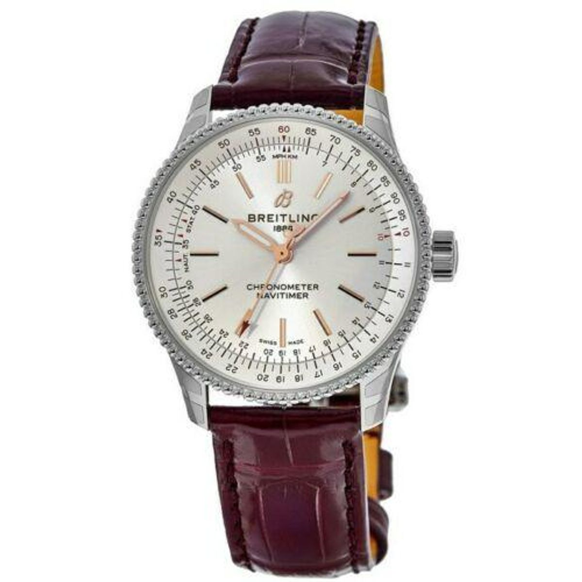 breitling navitimer automatic 35 silver dial womens watch