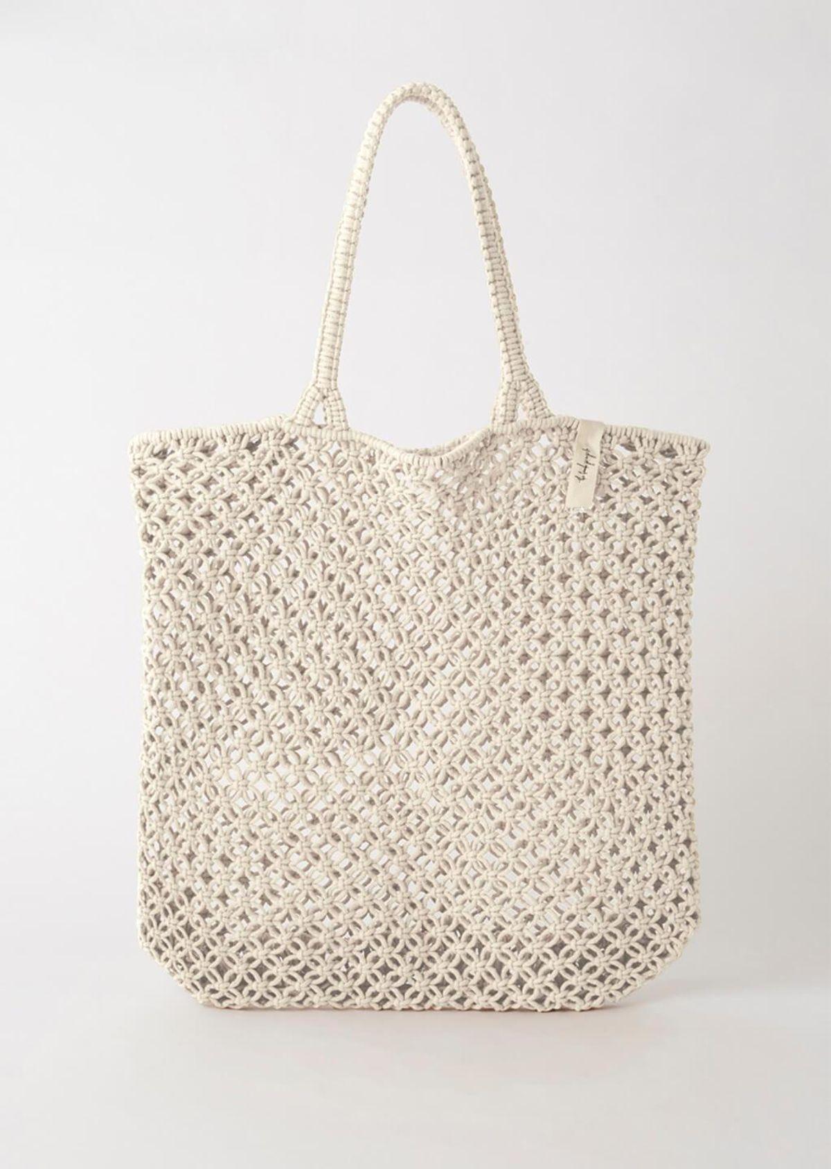 the beach people macrame tote bag