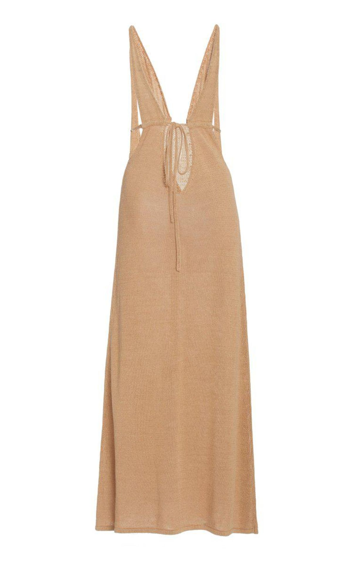 cult gaia kingsley linen blend knit maxi dress