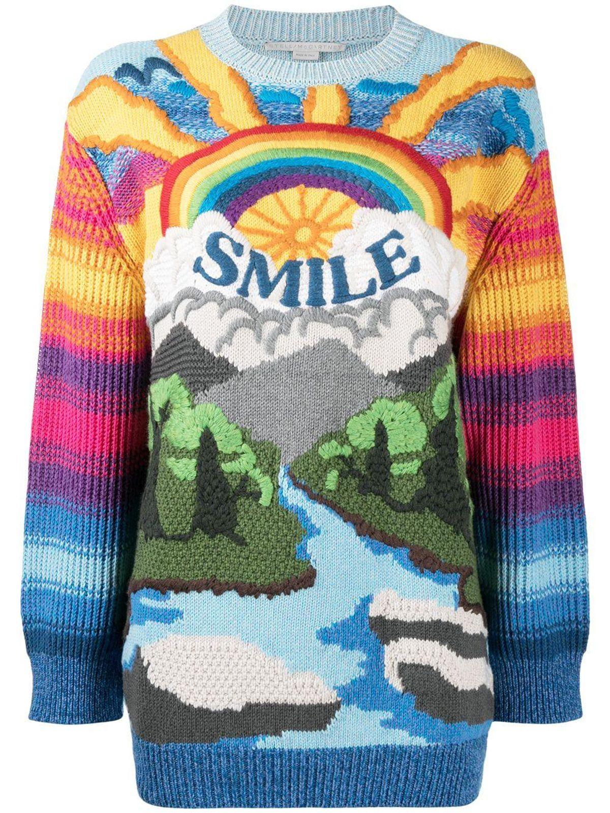 stella mccartney smile rainbow jumper