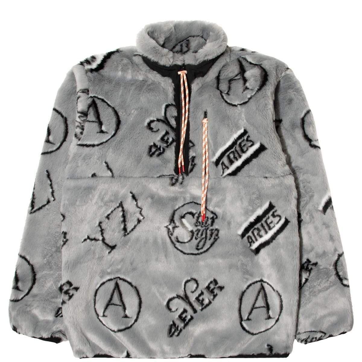 aries monogram half zip fleece