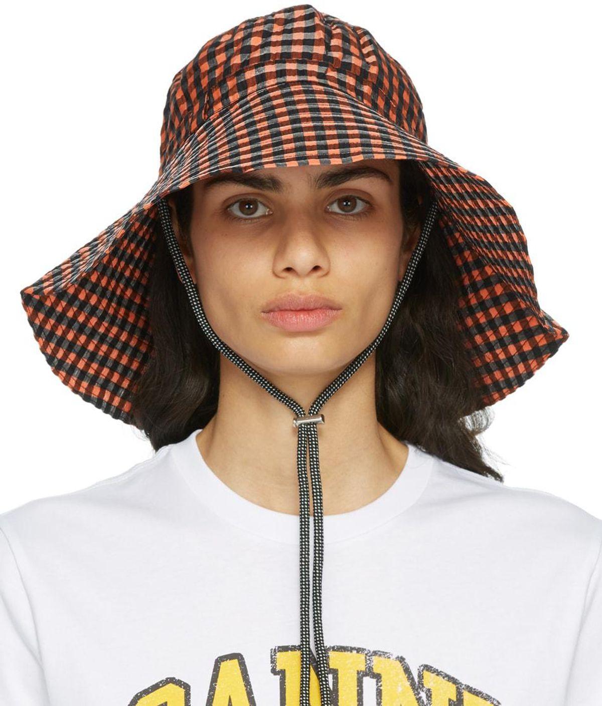 ganni seersucker hat