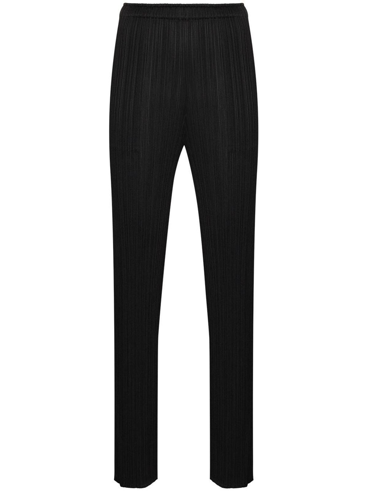 pleats please by issey miyake high waisted plisse trousers