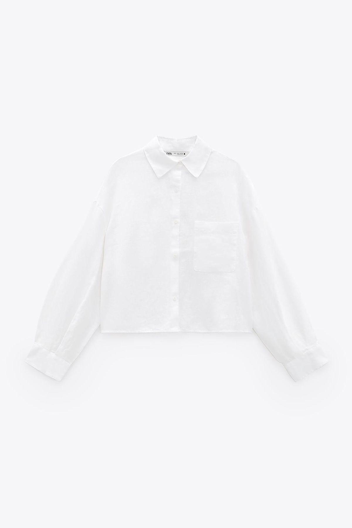 zara linen shirt with pockets