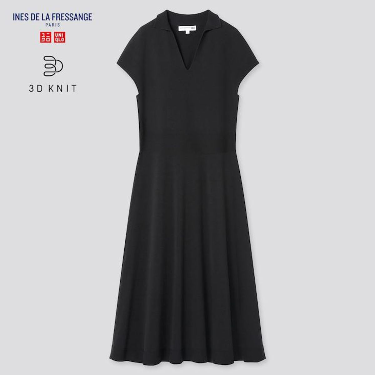 uniqlo ines de la fressange 3d knit short sleeve dress