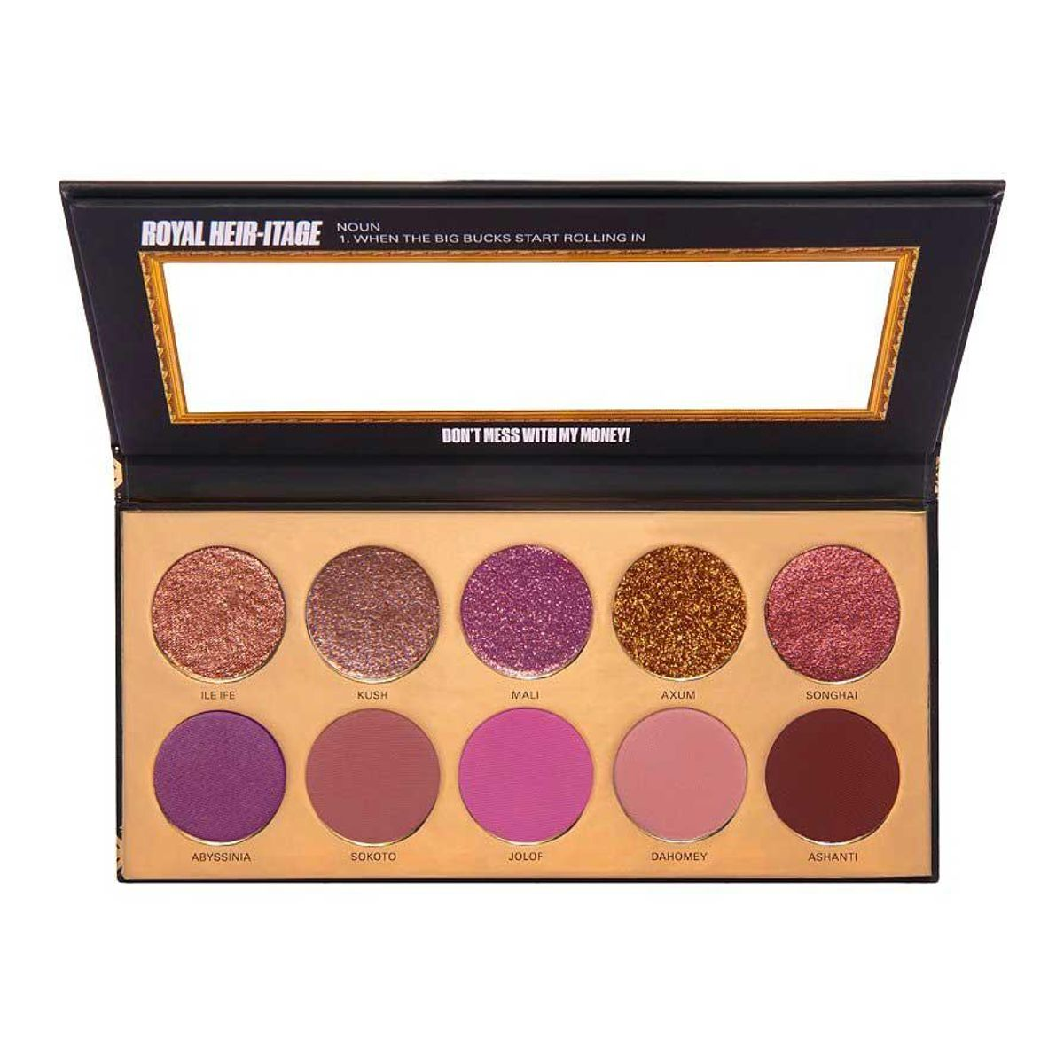 uoma beauty black magic coming 2 america royal heir-itage color palette